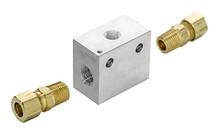 Inline Transmission Temperature Sender Block - 3/8