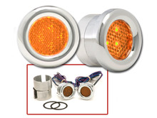 Round LED Marker Lights in Amber