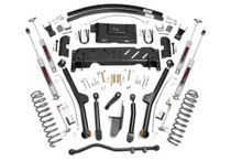 4.5in Jeep Long Arm Suspension Lift Kit (84-01 XJ Cherokee) with Add a Leaf / Shackles