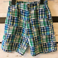 Izod Green & Blue Plaid Shorts