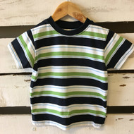 Gymboree Navy & Green Striped Tee Shirt