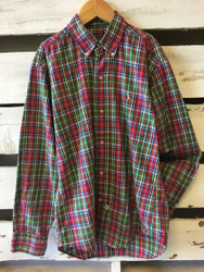 Polo by Ralph Lauren Green, Red & Blue Plaid Shirt