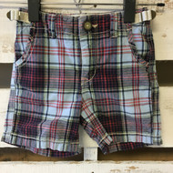 Baby Gap Navy & Red Plaid Shorts