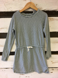 Gap Kids Grey & White Striped Dress