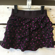 Gap Kids Plum Polka Dot Corduroy Ruffle Skirt