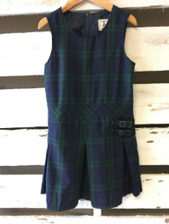 Land's End Plaid Uniform Romper