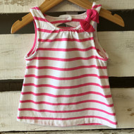 Gymboree Pink & White Stripe Keyhole Top