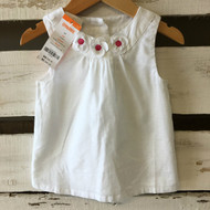 New! Gymboree White Daisy Top