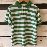 Gap Kids Green & White Stripe Polo Shirt