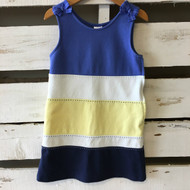 Gymboree Blue & Yellow Tiered Summer Dress