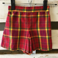 Gymboree Red & Gold Plaid School Girl Skort