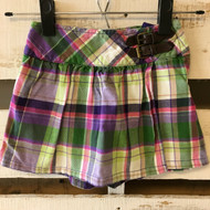 Gymboree Purple, Pink & Green Plaid Skort