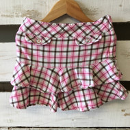 Gymboree Pink, White & Brown Plaid Skirt