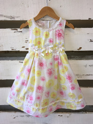 Biscotti Pink & Yellow Floral Dress