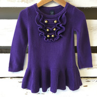 Baby Gap Purple with Gold Buttons Sweater Dress