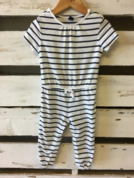 Baby Gap Black & White Stripe Jump Suit