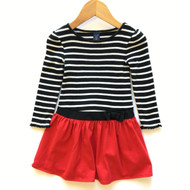 Baby Gap Black & White Stripe with Red Skirt Dress
