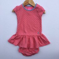 Joules Clothing Pink & White Polka Dot Dress
