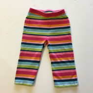 Gymboree Pink, Purple & Orange Stripe Leggings