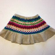 Gymboree Khaki & Multi Striped Knit Skirt