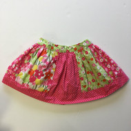 Gymboree Pink Green & White Pattern Skirt