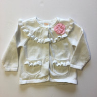 Gymboree White Ruffle Cardigan