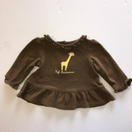 Gymboree Brown Giraffe Peplum Top