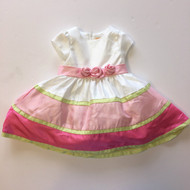 Gymboree Silk Dupioni Pink & White Dress
