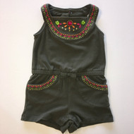 Gymboree Charcoal & Gem Romper