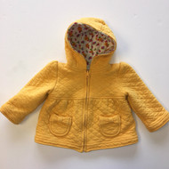 Gymboree Gold Quilted Hoodie Jacket