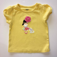 Gymboree Yellow 'Brunette Girl' Top