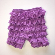 Unknown Brand Purple Lace Ruffle Knickers
