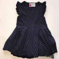 Mommy's Little Peanut Navy & White Polka Dot Dress