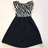 Moo Boo's Black & White Stripe Dress