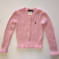 Ralph Lauren Light Pink Ruffle Cardigan