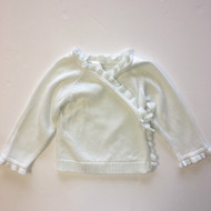 Baby Gap White Crossover Cardigan