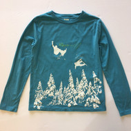 Crewcuts Blue Grey Snowboarding Graphic Top