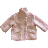 Me Jane Baby Pink Wool Fleece Jacket