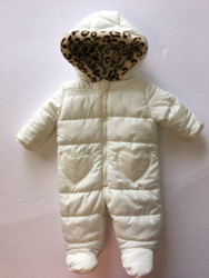 Weatherproof Ivory Quilted Snow Suit