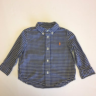 Ralph Lauren Navy & White Checked Button Up Shirt