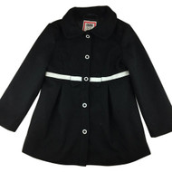 Olivia for Gymboree Black  with White Ribbon  Pea Coat