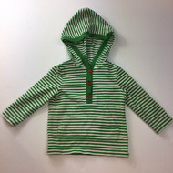 Gymboree Green & White Hooded Top