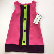 New! Hartstrings Pink & Purple Color Block Dress