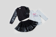 Kinderkind Kids Bomber Jacket & Skirt Set