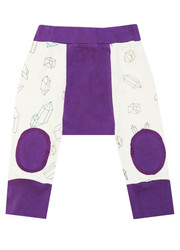Cat & Dogma Purple Geometric Crystals Crawler Pants