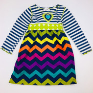 Tutu & Lilli Bright Chevron Striped Dress