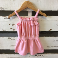 Janie & Jack Bubble Gum Terry Cloth Dress
