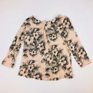 Baby Gap Peach with Black Pencil Sketches Dress