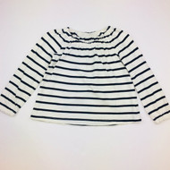 Baby Gap White & Navy Stripe Top