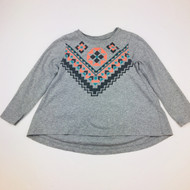 Tea Collection Grey Aztec Print Top